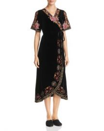 Johnny Was Joanna Embroidered Velvet Wrap Dress Women - Bloomingdale s at Bloomingdales