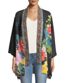 Johnny Was Petite Fuskha Floral-Print Kimono at Neiman Marcus