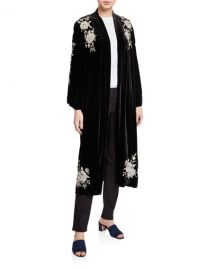 Johnny Was Plus Size Santal Velvet Kimono Coat at Neiman Marcus