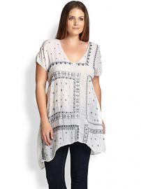 Johnny Was Sizes 14-24 - Bandana Tunic at Saks Fifth Avenue