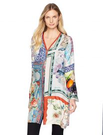 Johnny Was Women s Bioria Long Cardigan at Amazon