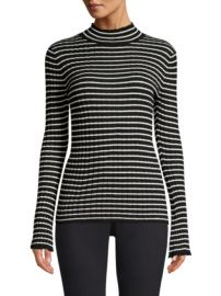 Joie - Gestina Striped Rib-Knit Turtleneck at Saks Fifth Avenue