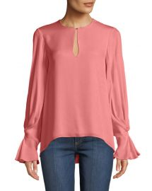 Joie Abekwa Long-Sleeve Silk Top at Neiman Marcus