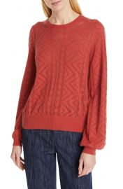 Joie Jaeda Pointelle Cotton  amp  Cashmere Sweater   Nordstrom at Nordstrom