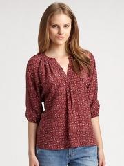 Joie - Addie Printed Silk Pullover at Saks Fifth Avenue