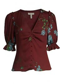 Joie - Anevy Puffed Sleeve Blouse at Saks Fifth Avenue
