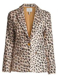 Joie - Anilah Leopard Linen Blazer at Saks Fifth Avenue