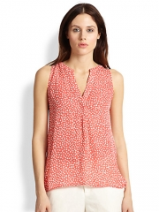 Joie - Aruna Heart-Printed Silk Blouse at Saks Fifth Avenue