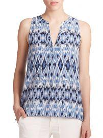 Joie - Aruna Silk Ikat Sleeveless Blouse at Saks Fifth Avenue