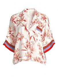 Joie - Bayley Floral  amp  Stripe Cropped Camper Shirt at Saks Fifth Avenue