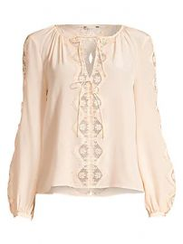 Joie - Bernabas Lace  amp  Silk Blouse at Saks Fifth Avenue