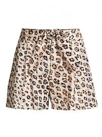 Joie - Carden Leopard Linen Tie-Front Shorts at Saks Fifth Avenue