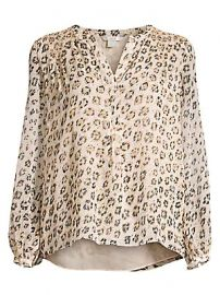 Joie - Cordell Smocked Leopard Blouse at Saks Fifth Avenue