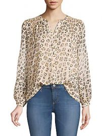 Joie - Cordell Smocked Leopard Blouse at Saks Off 5th