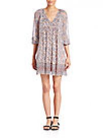Joie - Foxley Printed Silk Shift Dress at Saks Fifth Avenue