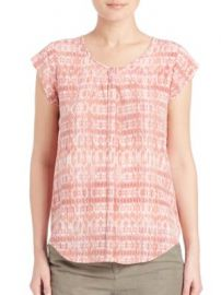 Joie - Iva Silk Ikat Button-Front Top at Saks Fifth Avenue