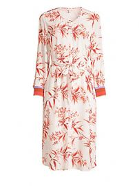 Joie - Jeanee Floral Tie-Waist Dress at Saks Fifth Avenue