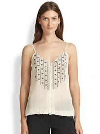Joie - Kaline Silk Embroidered Tank at Saks Fifth Avenue