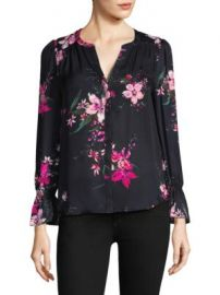 Joie - Keno Floral-Print Bell-Sleeve Silk Blouse at Saks Off 5th