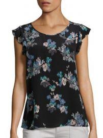 Joie - Kerr Brushstroke Floral Print Silk Blouse at Saks Fifth Avenue
