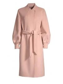 Joie - Mazie Peasant Sleeve Wool-Blend Trench Coat at Saks Fifth Avenue