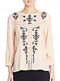 Joie - Oakes Victorian Embroidered Blouse at Saks Fifth Avenue