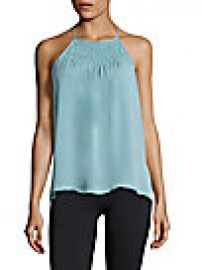 Joie - Pleated Silk Top at Saks Off 5th
