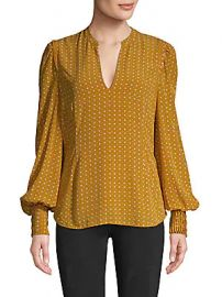 Joie - Printed Long-Sleeve Blouse at Saks Off 5th