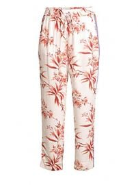 Joie - Quisy Cropped Floral  amp  Stripe Pants at Saks Fifth Avenue