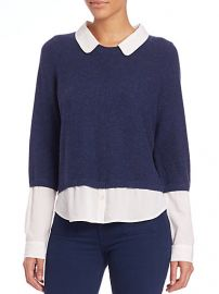 Joie - Thevenette Layered Long-Sleeve Sweater in Sapphire at Saks Fifth Avenue