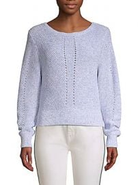 Joie - Verlene Cotton  amp  Cashmere Sweater at Saks Off 5th