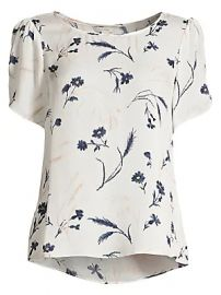Joie - Wira Silk Floral Print Top at Saks Fifth Avenue
