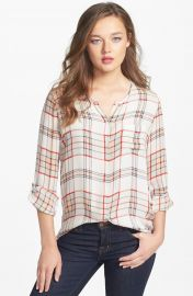 Joie  Kariana  Sheer Silk Blouse at Nordstrom