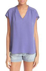 Joie  Suela  Silk Top in purple at Nordstrom
