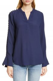 Joie Abe Button Sleeve Blouse   Nordstrom at Nordstrom