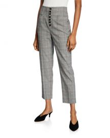 Joie Abony Cropped Button-Front Pants at Neiman Marcus