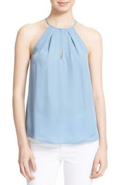 Joie Acrux B Silk Top in Dusky Blue at Nordstrom