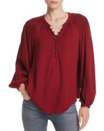 Joie Addalla Smocked-Shoulder Top Women - Bloomingdale s at Bloomingdales