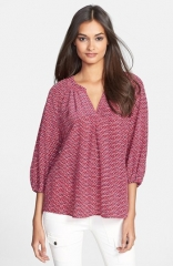 Joie Addie B Print Silk Blouse at Nordstrom