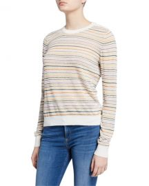 Joie Ade Striped Linen Pullover Sweater at Neiman Marcus