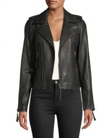 Joie Ailey Paper-Weight Leather Moto Jacket at Neiman Marcus