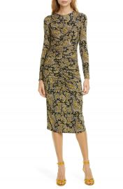 Joie Aja Long Sleeve Paisley Dress   Nordstrom at Nordstrom