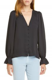 Joie Bolona Ruffle Cuff Blouse   Nordstrom at Nordstrom
