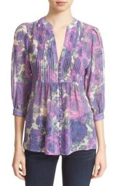 Joie Datev Floral Print Silk Blouse at Nordstrom