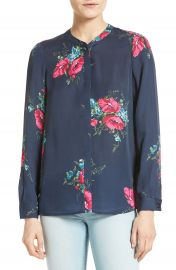 Joie Devitri Floral Silk Blouse at Nordstrom