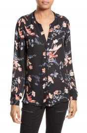 Joie Divitri Floral Silk Blouse at Nordstrom