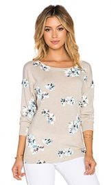 Joie Eloisa B Floral Sweater in Heather Oatmeal from Revolve com at Revolve