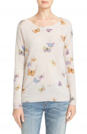 Joie Eloisa Butterfly Print Cashmere Sweater at Nordstrom