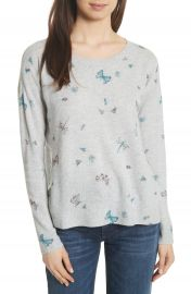 Joie Eloisa Painted Bug Cashmere Top at Nordstrom