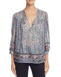 Joie Frazier Floral Border Print Silk Blouse at Bloomingdales